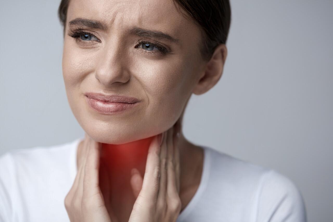 sore throat swollen lymph nodes
